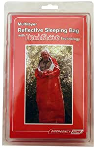 Emergency Zone Multilayer Reflective Sleeping Bag/Bivy Sack with HeatStore