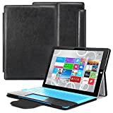 GreatShield Microsoft Surface PRO 3 Case [VANTAGE] Slim Leather Case with Stand and Magnetic Cover for NEW Microsoft Surface PRO 3 Tablet (Black)