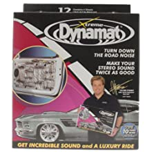 Dynamat 10435 12&#034; x 36&#034; x 0.067&#034; Thick Self-Adhesive Sound Deadener with Xtreme Door Kit