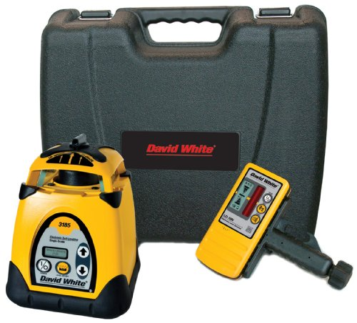 David White 48-3185 Single-Grade Rotary Laser with LCD