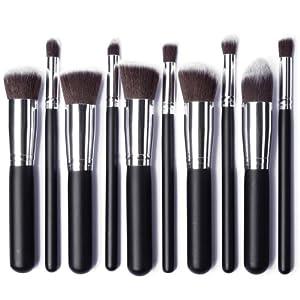 XCSOURCE® 10PCS Pro HQ Makeup Brushs Brush Cosmetic Set Make up Brushes Blending Concealer Eyeshadow Eyebrow Foundation Shadow Powder Cosmetics Tools Kit MT86