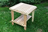 Cedar Side Table with Shelf, Amish Crafted