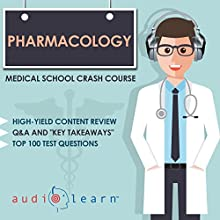 Pharmacology: Medical School Crash Course | Livre audio Auteur(s) :  AudioLearn Medical Content Team Narrateur(s) : Bhama Roget, Dr. John P. Sullivan