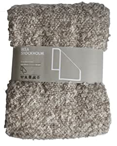 kea stockholm throw soft mohair wool blend blanket brown beige 67x51 couch throws. Black Bedroom Furniture Sets. Home Design Ideas
