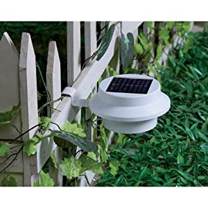 Coco Digital Solar Powered 3 LED Fence Gutter Light Outdoor Garden Wall Roof Lamp 1PCS by Coco Digital