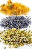 Herbal Bath Tub Tea Blend of Herbs : Helichrysum Italicum - Lavender - Chamomile - Calendula / Pack of 3