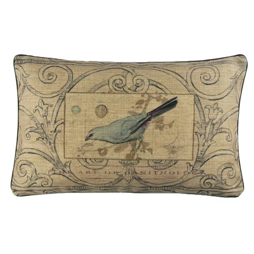 New Vintage Blue Bird American Retro Sketch Art Lumbar Pillow Case Cushion Cover