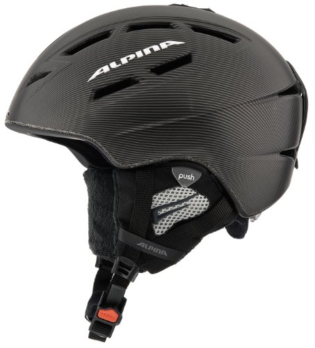 ALPINA Uni Skihelm chief ten, schwarz-anthrazit matt, 55-59, A 9055233