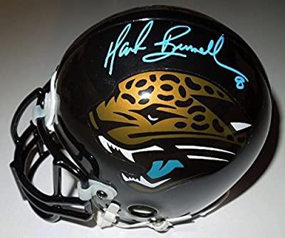 Mark Brunell Autographed / Hand Sigmed Jacksonville Jaguars Jags Authentic Mini Helmet - Teal Autograph