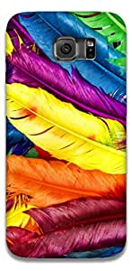The Racoon Grip printed designer hard back mobile phone case cover for Samsung Galaxy S6 Edge. (Feathery D)
