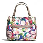 COACH STAMPED SIGNATURE C HALLIE EAST/WEST TOTE