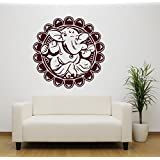 Hoopoe Decor Lord Ganesha In A Flower Wall Stickers And Decals