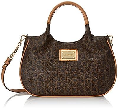 Calvin Klein Monogram Shopper Top Handle Bag