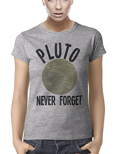 Pluto Never Forget Funny Maglietta Per Donne Womens Fit T-Shirt