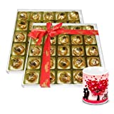 Valentine Chocholik Luxury Chocolates - Pack Of Assorted Chocolate Box With Love Mug