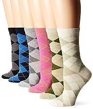 TeeHee Women's Value 6-Pack Crew Sock…