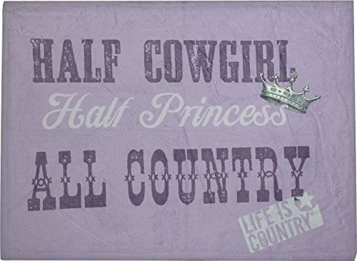 Manual Life Is Country Collection Dyed Fleece Throw Blanket, Half Cowgirl All Country, 30 X 40-Inch front-915391