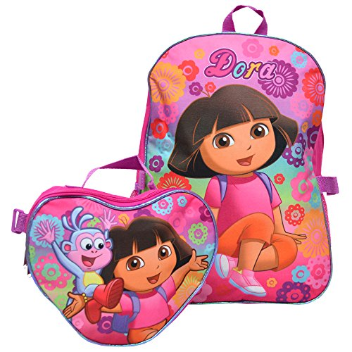 Nickelodeon Dora The Explorer Heart Backpack And Lunch Bag Set front-1081762