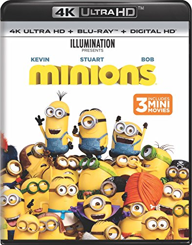 4K Blu-ray : Minions (With Blu-Ray, Ultraviolet Digital Copy, 4K Mastering, 2 Pack, Digital Copy)