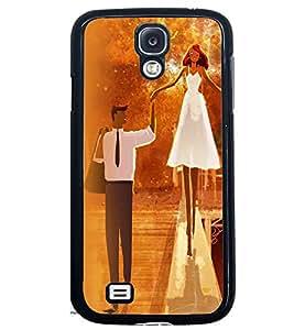 Printvisa Bride And Groom In Orange Background Back Case Cover for Samsung Galaxy S4 Mini::Samsung Galaxy S4 Mini i9190