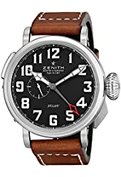 Zenith Men's 032430693.21C Pilot Swiss Watch with Brown Band