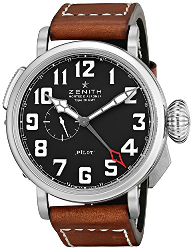 Zenith-Mens-03243069321C-Pilot-Swiss-Watch-with-Brown-Band