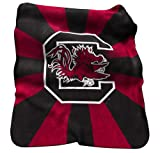 NCAA South Carolina Fighting Gamecocks Raschel Throw Blanket at Amazon.com