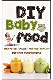 DIY Baby Food: The Fastest, Easiest And Most Healthy DIY Baby Food Recipes (Homemade Baby Food - All Natural - Organic Recipes - Healthy Infants)