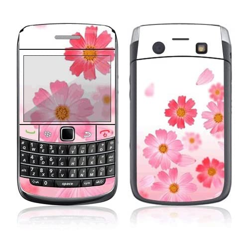 Pink Daisy Decorative Skin Cover Decal Sticker for Blackberry Bold 9700 Cell Phone