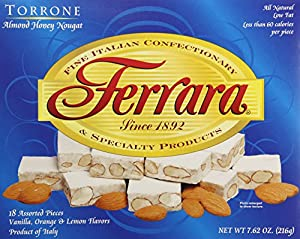 Ferrara Torrone Nougat Candy, Almond Honey, 18 Count (Pack of 12)