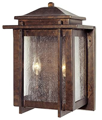 "American Bungalow Collection 14"" High Outdoor Wall Light"