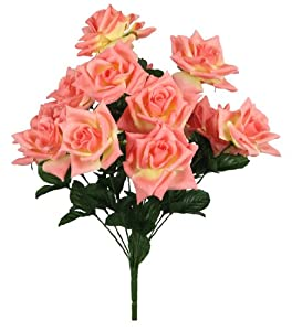 "20.5"" Large Silk Rose Wedding Bouquet - Lesbian Wedding Bouquet"