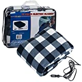 Trademark Tools 75-BP700 12V Plaid Electric Blanket for Automobile