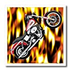 3dRose ht_3175_2 Iron on Heat Transfer Picturing Harley-Davidson Motorcycle