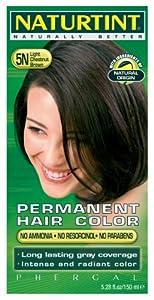 Permanent Hair Color - 5N, Light Chestnut Brown, 5.28 oz (6 Pack)