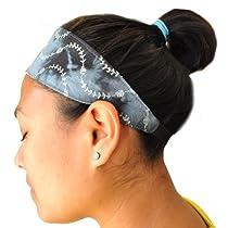 Silly yogi tie/dye embroidery yoga/fitness headband-Black-One size