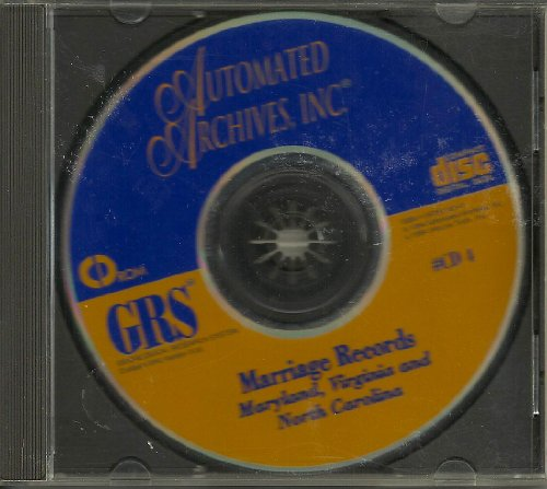 Genealogical Research System - Marriage Records : Maryland, Virginia and North Carolina