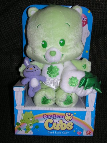 "Care Bear Cubs 12"" Plush Good Luck Cub Bear With Blanket And Purple Bunny front-1037684"