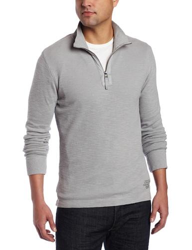 calvin klein jeans men 39 s waffle knit 1 4 zip mockneck. Black Bedroom Furniture Sets. Home Design Ideas