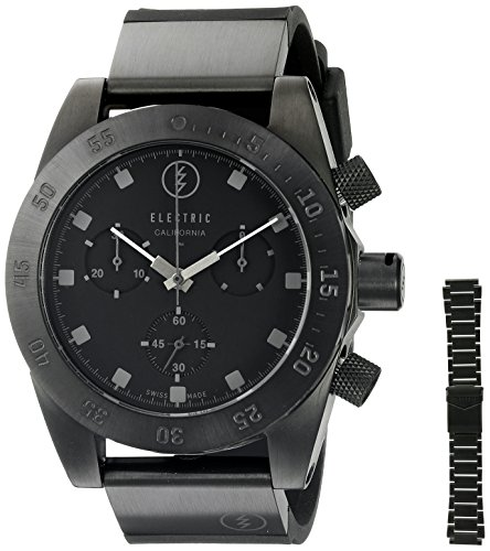 Electric-Unisex-EW0040040005-DW01-SWISS-Analog-Display-Swiss-Quartz-Black-Watch