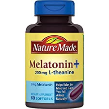 Nature Made Melatonin + L-Theanine, Liquid Softgels, 60 softgels