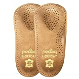 Pedag Holiday 3/4 Leather Ultra Light, Thin, Semi-Rigid Orthotic with Metatarsal Pad, and Heel Cushion, Tan, Men's...