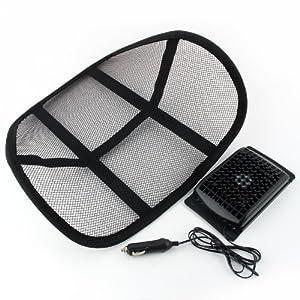 Respaldo para el asiento del coche con ventilador negro for Asiento para carro bebe