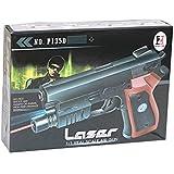 Air Sport LASER Toy Air GUN With RED LASER & BLUE LIGHT Pistol.