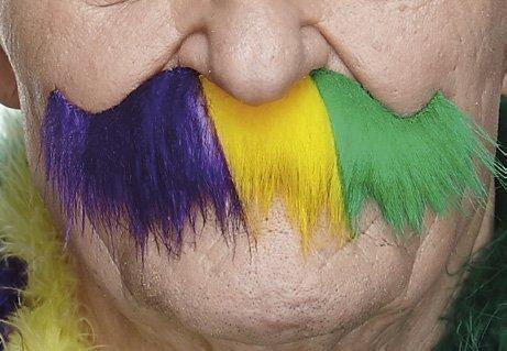 Untrimmed Mardi Gras moustache