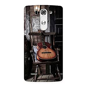 Old Guitar On Chair Back Case Cover for LG G3 Beat