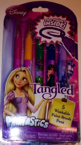 Tangled Paintastics 5 Washable Paint Brush Pens with the Paint's Inside by Disney - 1