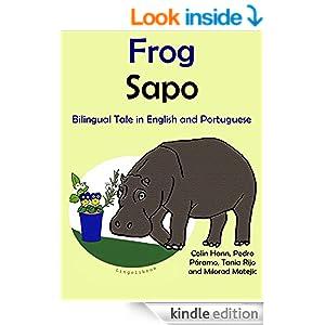 Bilingual Book in English and Portuguese: Frog - Sapo