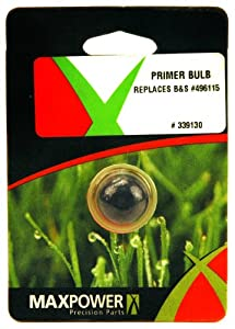 Maxpower 339130 Primer Bulb For Briggs & Stratton 3.5, 3.75 and 4 HP Quantum Engines Without Hole 494408, 694394