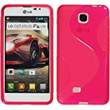 PhoneNatic LG Optimus F5 Hülle Silikon pink S-Style Case Optimus F5 Tasche + Schutzfolien